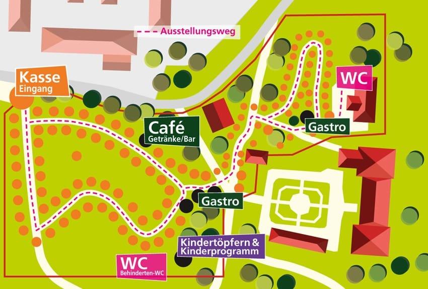 Lageplan Gartenlust Schloss Maxlrain